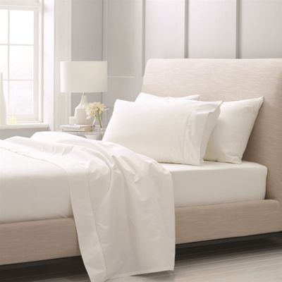 Sheridan 1000 Thread Count Cotton Sateen Snow Flat Sheet - Emperor
