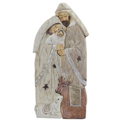 2pc Holy Family Christmas Nativity Set Ornament
