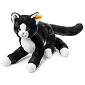 Steiff Mimmi 30cm Lying Black and White Cat Soft Toy