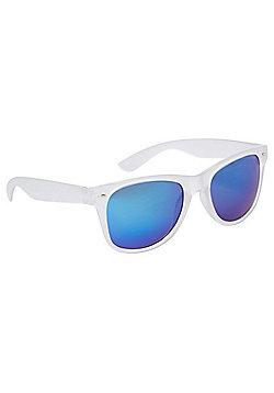 F&F Frosted Rim Sunglasses Blue & White