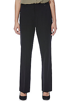 F&F Button Detail Bootcut Trousers - Black