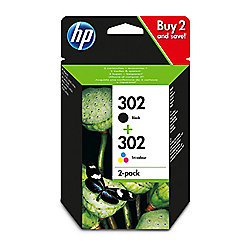 HP 302 2-pack Black/Tri-colour Original Ink Cartridges