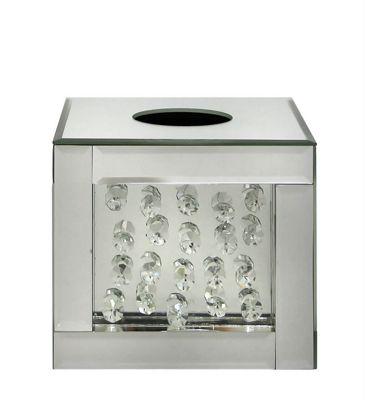 Diamond Mirrored Small Tissue Box