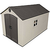 8 x 12.5 Life Plus Plastic Apex Shed with Plastic Floor and 2 windows (2.43m x 3.81m) 8ft x 12.5ft