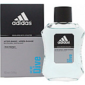 Adidas Ice Dive Aftershave 100ml Splash For Men
