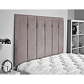 ValuFurniture Jubilee Chenille Fabric Headboard - Silver - Small Double 4ft