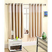 Enhanced Living Sweetheart Natural Eyelet Curtains - 66x72 Inches (168x183cm)
