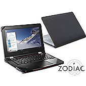 "Black Faux Leather Folio Case Cover For 14"" Laptop / Ultrabook"