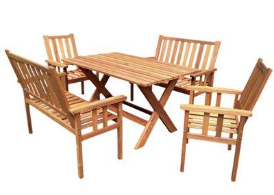 Royalcraft Homestead Bench Garden Dining Set