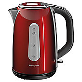 Hotpoint Stainless Steel Jug Kettle, 1.7L - Red