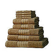 Dreamscene Luxury Egyptian Cotton Towel Bale 9 Piece Set - Beige