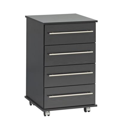 Ideal Furniture Bobby 4 Drawer Slim Chest - Black