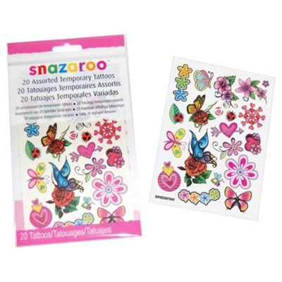 Snazaroo Girls Tattoos 20pk
