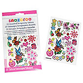 Snazaroo Girls Tattoos 20pk