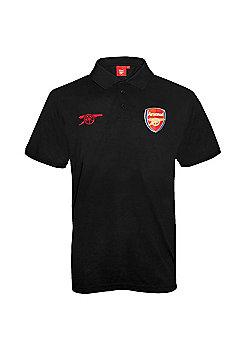 Arsenal FC Mens Polo Shirt - Black