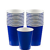 Royal Blue Cups - 266ml Paper Party Cups - 20 Pack