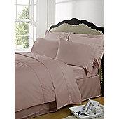 Dreamscene Highams 100% Egyptian Cotton Plain Dye Valance Sheet - Pink