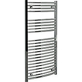 Kudox 250W Standard Electric Curved Towel Rail - Chrome