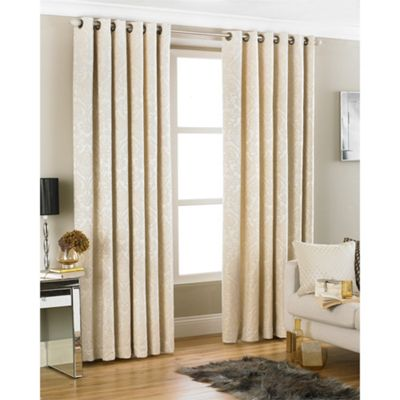 Riva Home Firenze Cream Eyelet Curtains - 90x90 Inches (229x229cm)