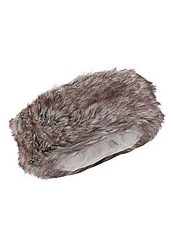 Womens Furry Hat - Brown