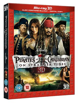 Pirates Of The Caribbean 4 -Bluray 3D + Bluray +Digital Copy