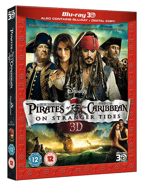 Pirates Of The Caribbean 4 -Bluray 3D + Bluray +Digital Copy