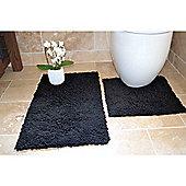 Rapport 2 Piece Bath Mat Set - Black