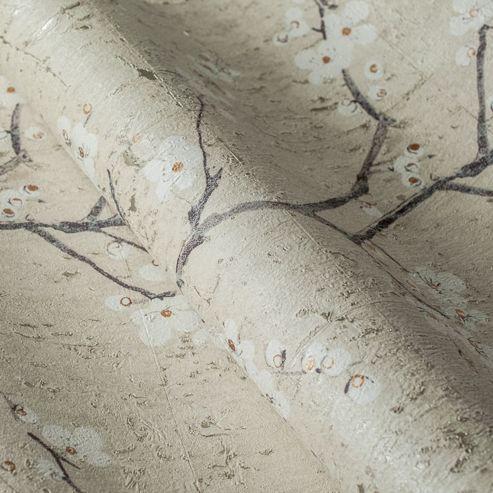 Boutique Pale Gold Sakura Cork Textured Heavyweight Vinyl Wallpaper