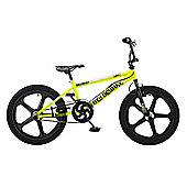 Rooster Big Daddy 20 BMX Yellow/Black with Skyway Mag Wheels