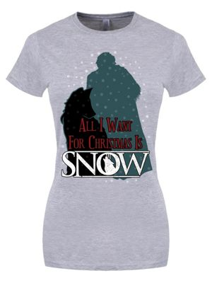 All I Want For Christmas Is Snow Grey Women's T-shirt