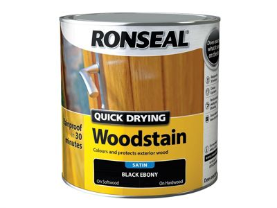 Ronseal Woodstain Quick Dry Satin Ebony 2.5 Litre