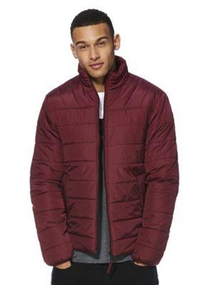 F&F Shower Resistant Puffer Jacket Burgundy M