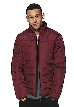 F&F Shower Resistant Puffer Jacket - Burgundy