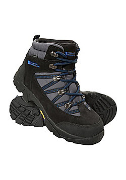 Mountain Warehouse Boys Waterproof Boots and Vibram Outsole with Suede Upper - Cobalt