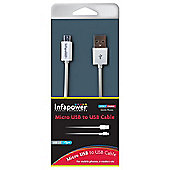 Infapower Usb 2.0 Micro Usb To Usb Cable, 1m, White (p009)