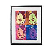 Disney Mickey Mouse Pop Art Framed Print Wall Art