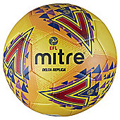 Mitre Delta Replica Size 5 Yellow Football