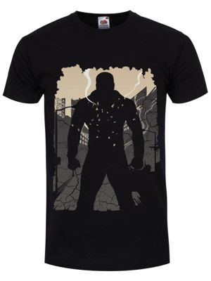 The Power Man Rises Men's T-shirt, Black.