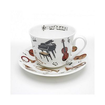Roy Kirkham Bone China Breakfast Cup and Saucer, Concert Design