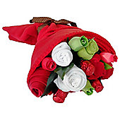 Traditional Reds Mum And Baby Clothes Bouquet