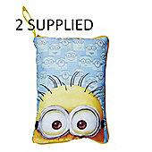 Worlds Apart Despicable Me Minion Hide 'N' Sleep Cushion BUNDLE 2 SUPPLIED