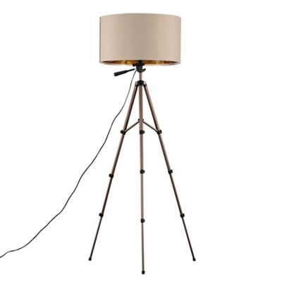 Hogan 134cm Tripod Floor Lamp - Beige
