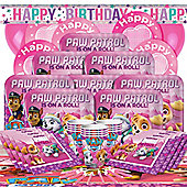 Pink Paw Patrol Party Pack - Deluxe Party for 16