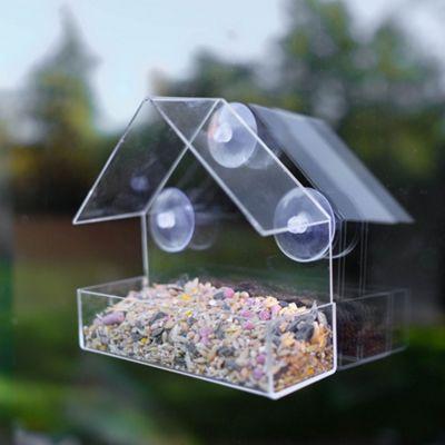 Clear Plastic Window Suction Wild Bird Feeder