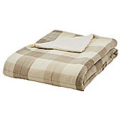 Tesco Check Sherpa Back Throw Neutral