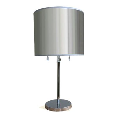 Chrome Table Lamp with Clear Shade