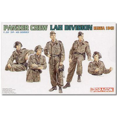 Dragon 6214 Panzer Crew Lah Division Russia 1943 Figures Model Kit 1:35