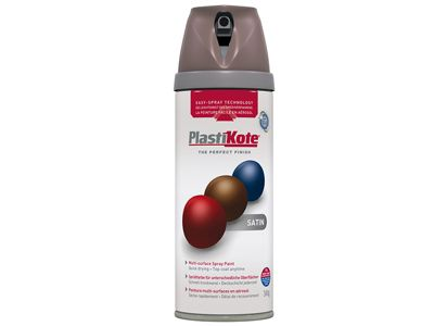 Plasti-kote Twist & Spray Satin Cappuccino 400ml