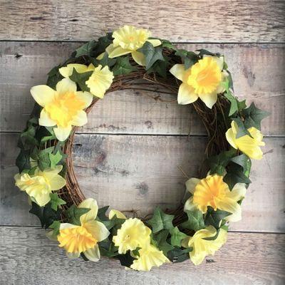 Daffodil Easter Wreath