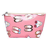 Pink Ballet Pump Print Wash Bag